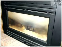 clean gas fireplace clean fireplace glass gas insert cleaner ideas haze off white how to clean soot from gas fireplace logs