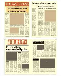 Newspaper Template Indesign Newspaper Template For Adobe Indesign Modern Magazine A4