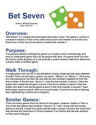 Project 11 Option 1 Sample Portfolio Outline Game Design