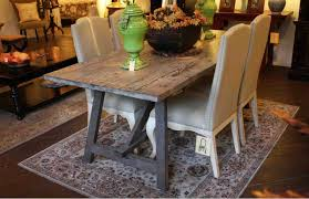 Kitchen Table Reclaimed Wood Old Wood Sawhorse Dining Table Built In Solid Reclaimed Wood