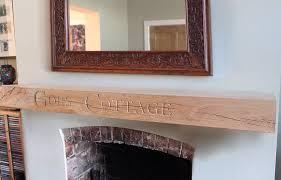 hand carved oak mantle