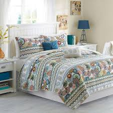 Best 25+ Quilts & coverlets ideas on Pinterest | Teal and gray ... & 5 pc Teal Blue Turquoise Paisley QUEEN Quilt Coverlet Floral Boho Moroccan  Multi Adamdwight.com