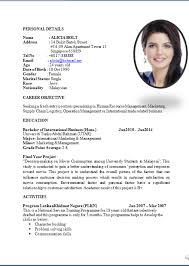standard resume layout template std resume format