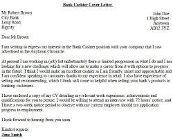 Cover Letter Bank Cashier Lezincdc Com