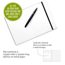 nh quote for a writer personalised notebook quirky gift  nh0004 quote for a writer personalised notebook