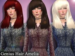 Genius666's Genius Hair Amelia | Sims 4, Sims, Sims resource