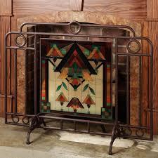 decorative fireplace screens single panel