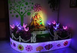creative ideas for ganpati decoration at home home ideas