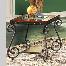 Ellery Medium Cherry With Scrolled Legs End Table El550e The Home