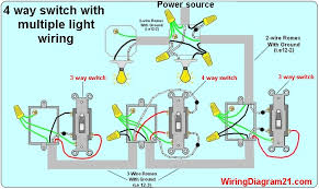 4 way light switch wiring diagram house electrical wiring diagram wiring multiple light switches from one power source 4 way switch wiring diagram with multiple lights power source feed vea the switch