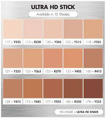 make up for ever ultra hd foundation stick shades