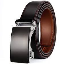Light Brown Leather Belt Romantico Genuine Leather Belt Men Ratchet Dress Belt With