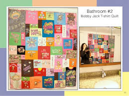 Quilts Hanging in the Too Cool T-shirt Quilt Shop in Charlotte & 11 Bathroom #2 Bobby Jack T-shirt Quilt ... Adamdwight.com