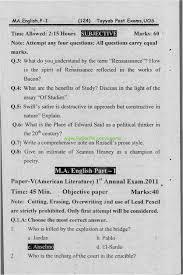 m a english part i paper v american literature university of m a english part i paper v american literature university of sargodha annual