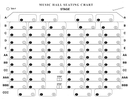 Seating Chart The Gaslight Music Hall