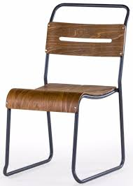 metal and wood set of 6 stacking chairs