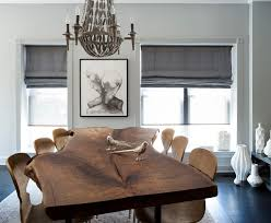 WoodslabdiningtableDiningRoomTransitionalwithaffordable - Art for the dining room