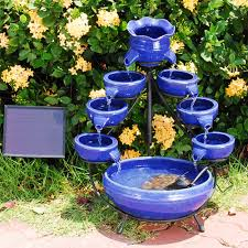 Best Garden Fountain Solar Small Water Feature Powered Water