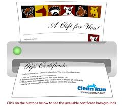 How To Make A Gift Certificate Gift Certificate Print Your Own Certificate Clean Run