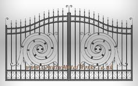Wrought Iron Gate and Railing Metal Fence