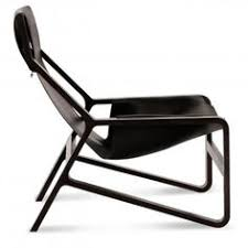 modern wooden chair front view. Side View Of Front Toro Modern Black Saddle Leather Sling Lounge Chair Wooden