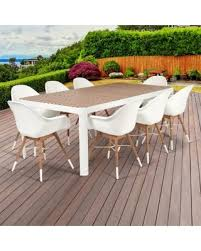 amazonia hawaii deluxe 9piece rectangular patio dining set brown furniture 9 piece patio dining set o74