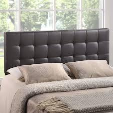 amazoncom  modway lily upholstered tufted vinyl headboard  king