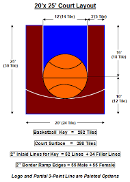 sport court dimensions. Contemporary Dimensions 20 X 25 Dimensions Of Backyard Basketball Half Court  Google Search And Sport Court Dimensions C