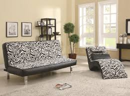 Lounge Chairs For Living Room Charming White Tiger Pattern Of Armless Sofa Also A Lounge Chair