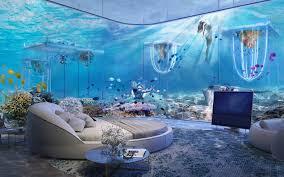 underwater hotel room at night. Floating Venice Room Underwater Hotel At Night