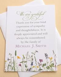 Thank You Sympathy Cards Sympathy Thank You Cards With Pretty Wild Flowers Sympathy