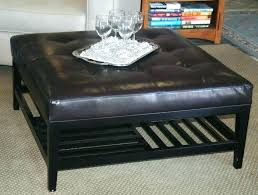 charming tufted ottoman coffee table cream oversized display dining leather c gray ottoman