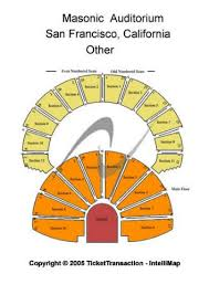 The Masonic Sf Seating Chart Masonic Auditorium At Nob Hill Masonic Center Tickets And