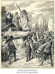 Druids are massacred by the soldiers of Suetonius Paulinus, Stock Photo,  Picture And Rights Managed Image. Pic. MEV-10117064 | agefotostock