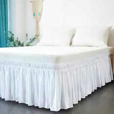 Light Grey Bed Skirt Full Home Garden Wrap Around Bed Skirt Dust Ruffle Three Sides