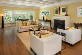 ... Make your living room calming and inviting by using lighter shades of  brown or even yellow ...