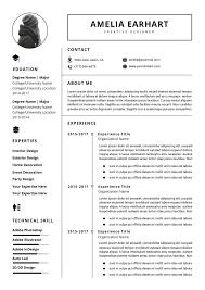 Cv In Ms Word Resume Format Download Template Fsw6nhor