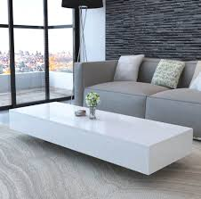 white modern coffee table high gloss wood living room furniture rectangular 1 of 5only 1 available