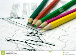 Color Pencils And Chart Stock Photo Image Of Numbers 12141404