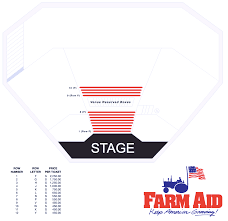 Alpine Valley Detailed Seating Chart With Seat Numbers Farm Aid 2019 Vip Tickets