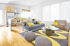 no couch living room ideas home decor inspirations wooden unfinished open floor crochet ball pouf ottomans