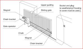 sliding gate opener kit