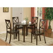 East West Furniture Boston 3 Piece Round Dining Table Set With