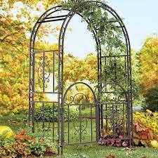 montebello iron arbor with gate