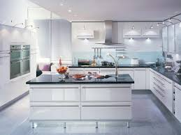kitchen modern decor with cost to refinish cabinets and white ceiling sink plus recessed lighting for new contemporary ideas should you tile under oak