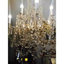 grand chandelier gilt bronze pampilles rewired