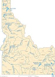 Map Of Idaho Lakes Streams And Rivers