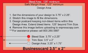 Business Card Print Specifications Expresscopycom