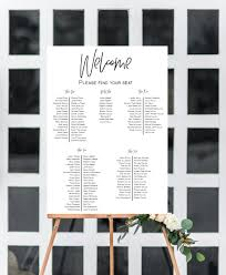 Seating Chart Rectangle Printed With 3d Heading