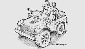 Disegni Da Colorare Una Jeep Fuori Strada M Michelangeliit